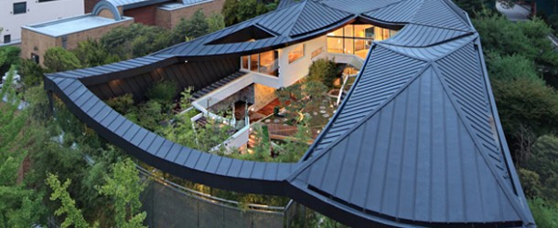 Imposing Courtyard and House Design of the Ga On Jai in South Korea