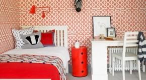 20 Trendy Bedrooms With Geometric Wallpaper Designs