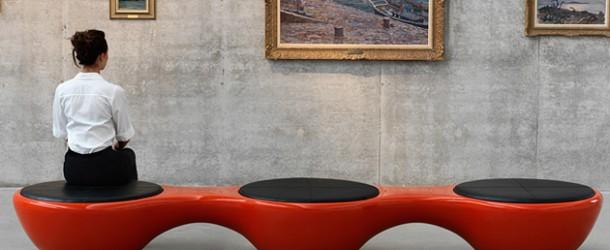 Union Panorama Bench: Sleek Designer Bench for Twelve People