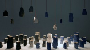 Unique Ceramic Clay Pixel Vases and Lights by Bond