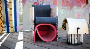 Artistic Rough and Ready Furniture of Wool Felt and Ropes