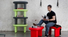 Snoop Stool Turns Into a Low Table and Shelf