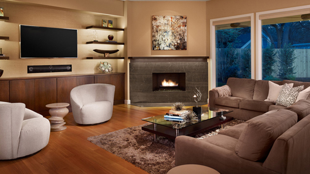 Living Room With Fireplace And Tv How To Arrange 20 beautiful living room layout with two focal points | home