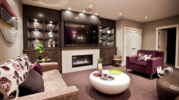 20 contemporary windowless living rooms home design lover for Windowless kitchen ideas