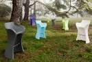Sinuous and Comfy Woopy S Stool for Indoor and Outdoor Use