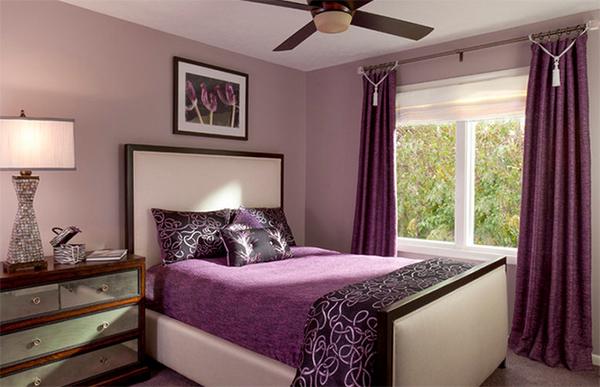 purple master bedroom designs