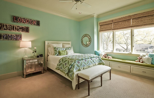 20 bedroom paint ideas for teenage girls home design lover for Mint green bedroom ideas
