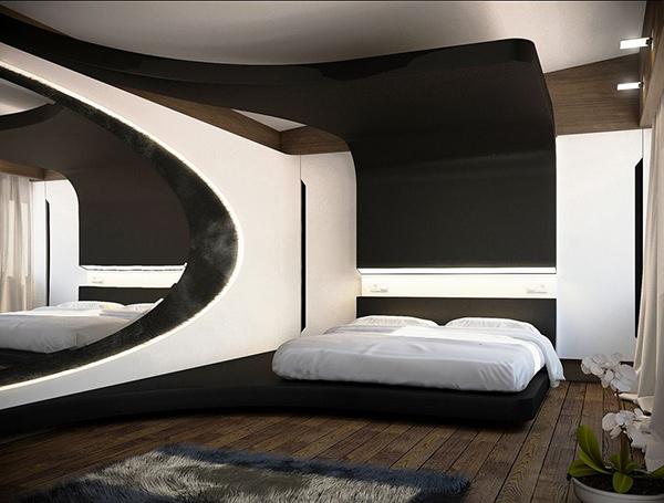 20 unique bedroom designs to impress you home design lover for Ultra modern bedroom designs