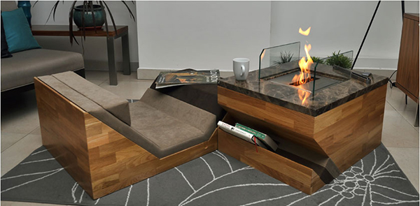 fireplace coffee table - Coffee Tables And Fireplace In One From Flying Cavalries Home