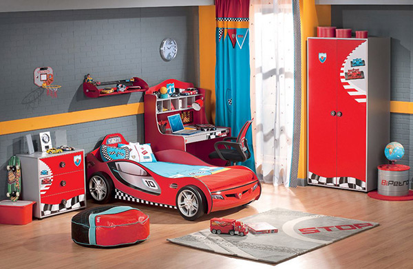 small space living tips for kids bedroom!  Love Taza