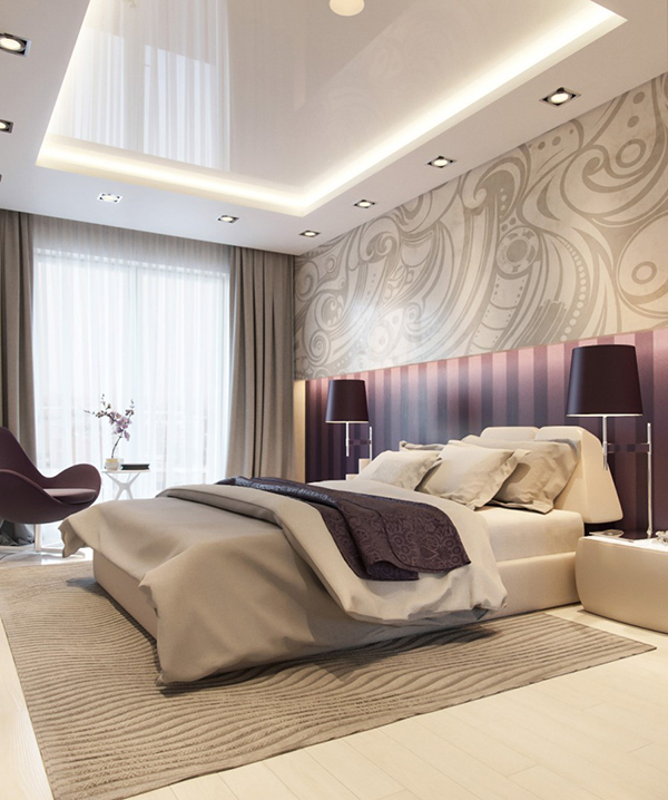 Master Bedrooms With Purple Accents Home Design Lover