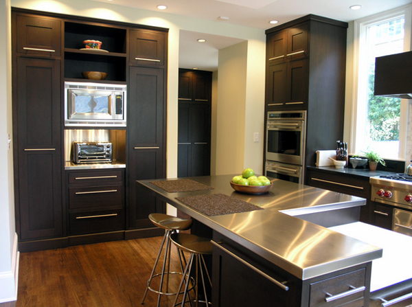 Beautiful Contemporary Kitchen Colors small and dark kitchen color idea 6 Charlotte Contemporary Kitchen