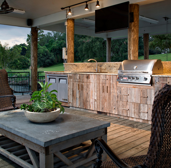 23 different outdoor kitchen cabinets home design lover for Barbecue design