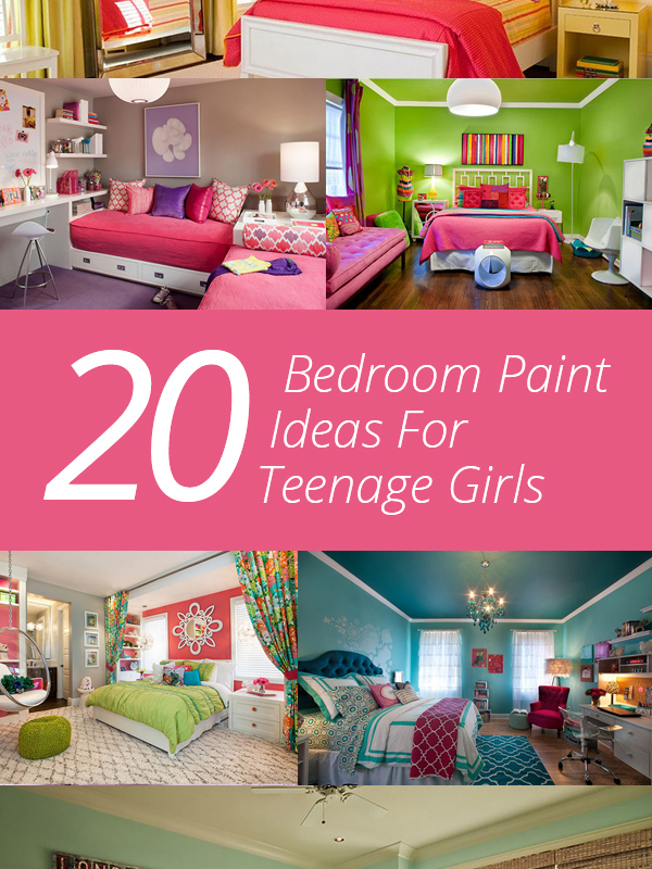 Girl Room Paint Ideas 20 bedroom paint ideas for teenage girls | home design lover