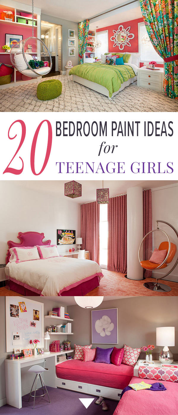 Paint Ideas For Girls Bedrooms 20 bedroom paint ideas for teenage girls | home design lover