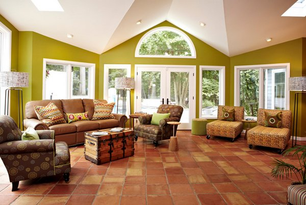 20 marvelous mexican living rooms home design lover for Mexican inspired living room ideas