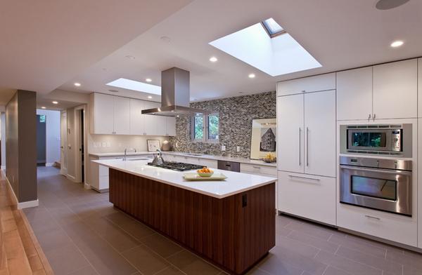 skylight ceiling kitchen