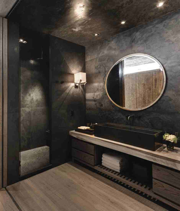 black granite bathroom