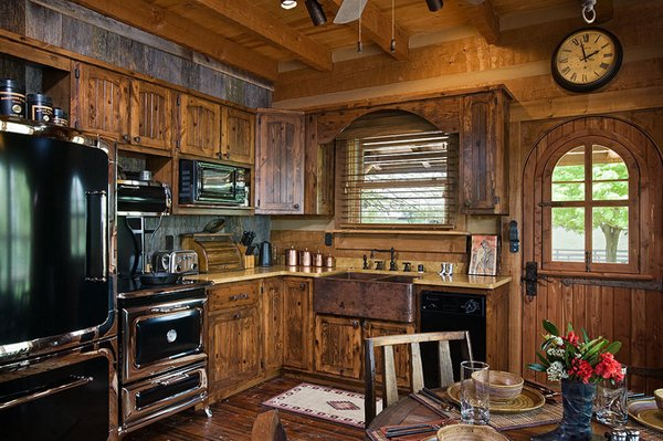 24 beautiful western kitchen decor home design lover for Western kitchen cabinets