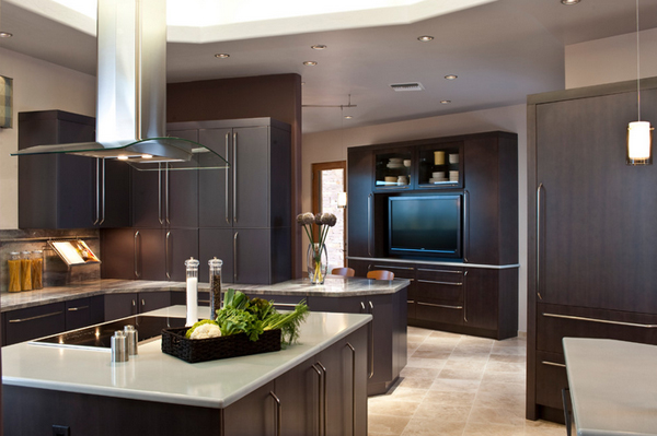 20 awesome flat screen tv furniture in the kitchen home for Kitchen in the canyon