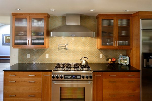 natural wood cabinetry