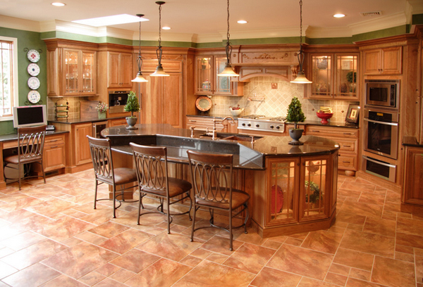 23 Wooden Finished Porcelain Tile Kitchen Floor Home