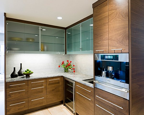 Glass Designs For Kitchen Cabinet Doors 20 gorgeous glass kitchen cabinet doors | home design lover