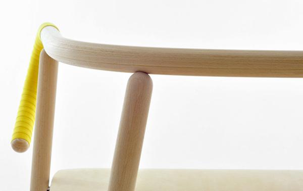 wooden texture chair