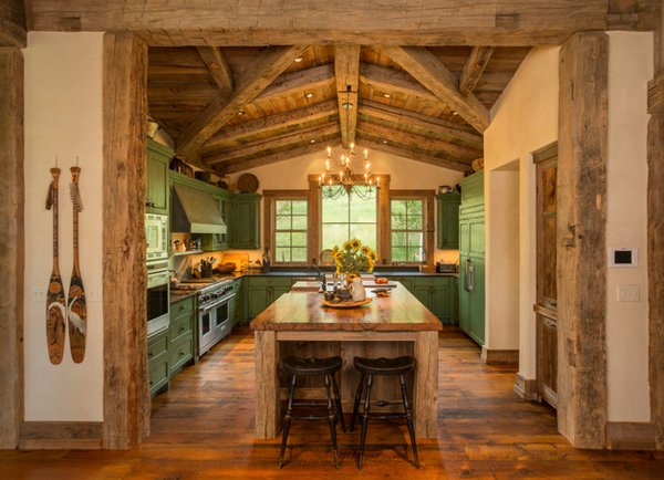 24 beautiful western kitchen decor home design lover Western home interior design ideas