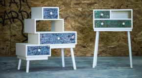 Fossil: Recycled Waste Paint is a New Furniture Material