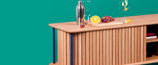 Loop Oak Sideboard Features Continuity in Shape Without Handles