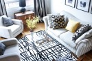 Before and After: Neutral Colors and Playful Patterns Revamped Townhouse Interior