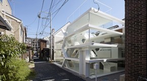 Remarkable Three Dimensional Forms of S-House in Saitama, Japan