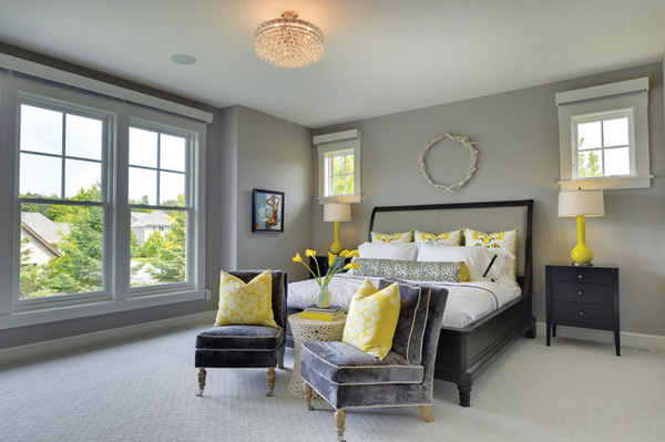Black And White And Yellow Bedroom 20 sophisticated black and yellow bedrooms | home design lover