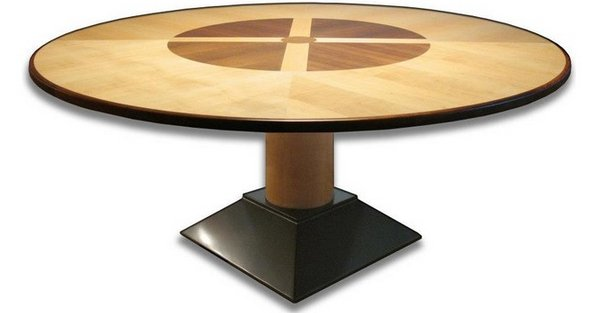 Look 20 irresistible 72 inch wooden round dining tables for How to make a sturdy table base