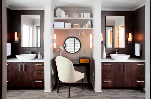 20 make up table with mirror in the bathroom home design for Bathroom designs usa