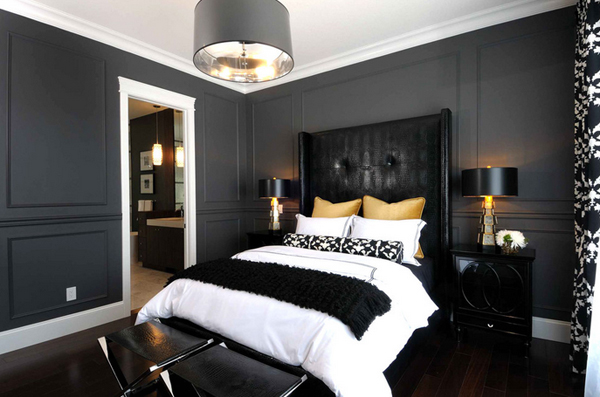 sophisticated black and yellow bedrooms  home design lover, Bedroom decor