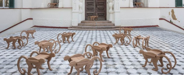 Playful Design of a Monkey Stool- Side Table