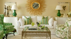 20 Wonderful White and Green Living Rooms