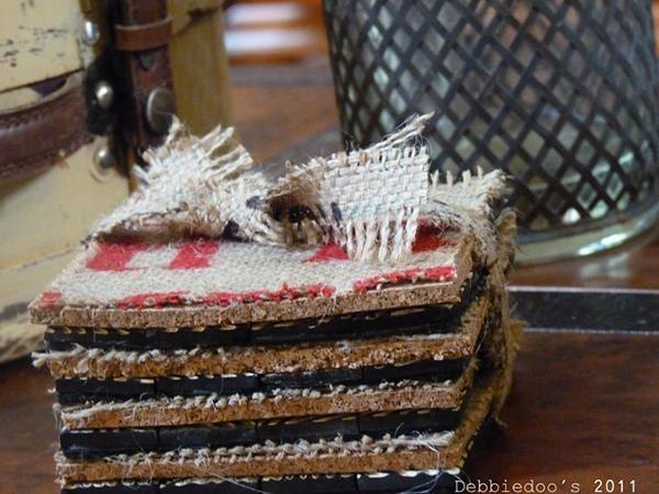 Rice Burlap Bag Coasters