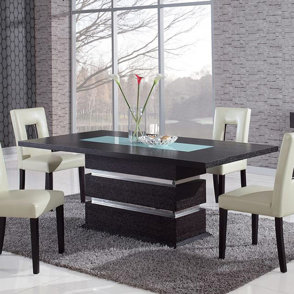 20 examples of glass dining room tables home design lover for Dining table design examples
