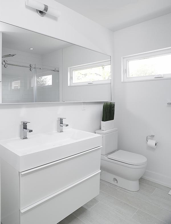 white toilet room