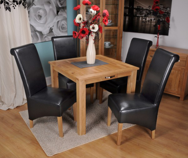 13. Oak Square Dining Table