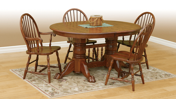 20 Outstanding Oval Oak Dining Room Tables Home Design Lover : 16 Authentic Amish from homedesignlover.com size 600 x 337 jpeg 171kB