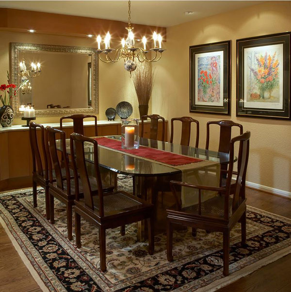Double Pedestal Brass Dining Table
