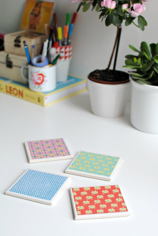 Patterned Paper Coasters