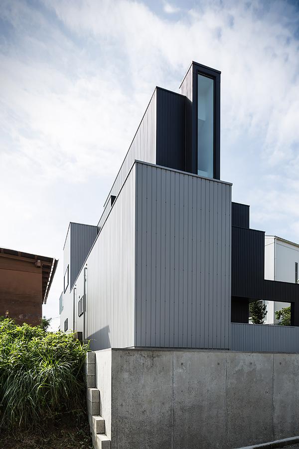 exterior scape house