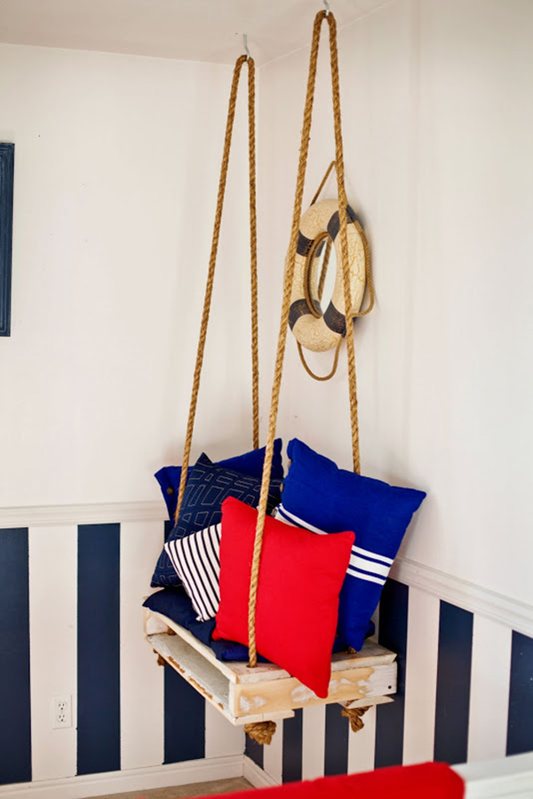 20 epic ways to diy hanging and swing chairs home design for Diy indoor hanging chair