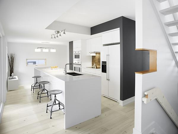 minimal kitchen island