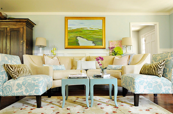 Contemporary Beach Living Room
